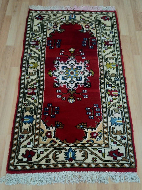 Turkish Handmade Vintage Rug,  Canakkale Can Vegetable Dyed Handmade Rug
