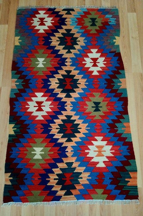 Turkish Ushak Vintage Handmade Kilim Rug