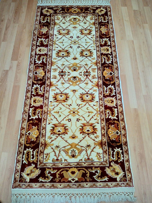 Turkish Very Rare Handmade Runner Rug
