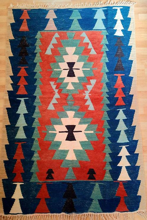 Turkish Kayseri Bunyan Handmade Vintage Kilim Rug