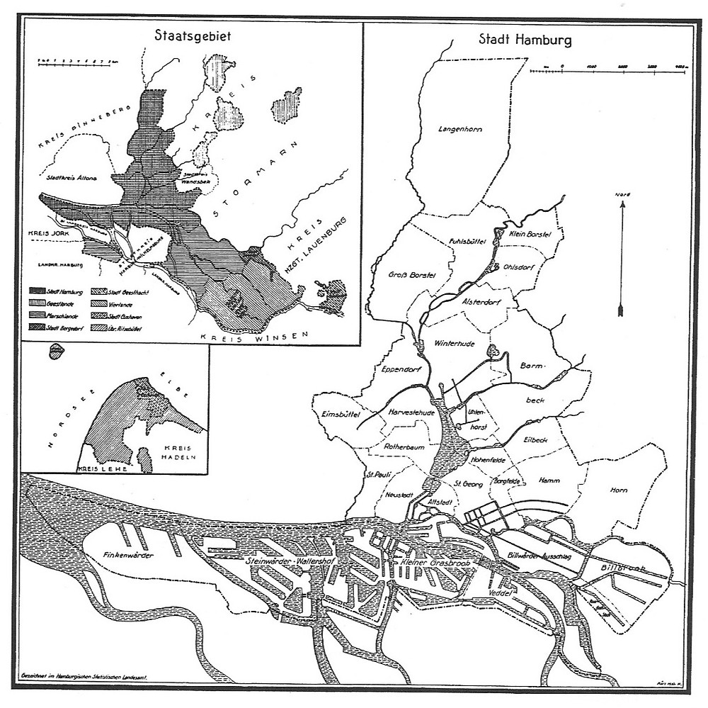 (2) Hamburger Staatsgebiet © Statistische Mitteilungen über den Hamburger Senat, 27. September 1931