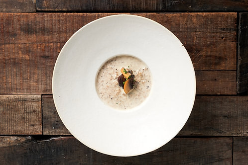 Creamy Mushroom Veloute with Croutons by MOKA