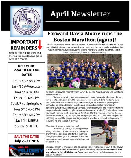 April Newsletter!