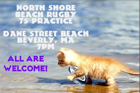 BEACH RUGBY PRACTICE TONIGHT!