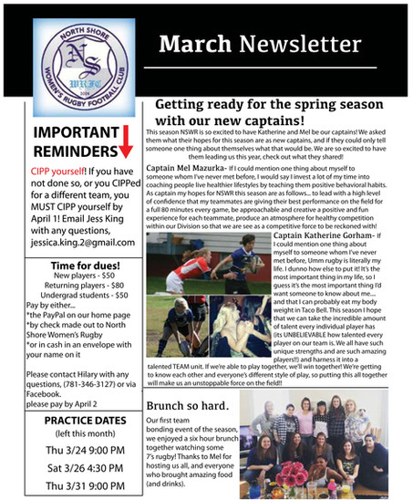 Extra! Extra! March Newsletter!