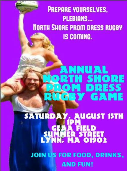 PROM DRESS RUGBY IS COMIN' TO TOWN