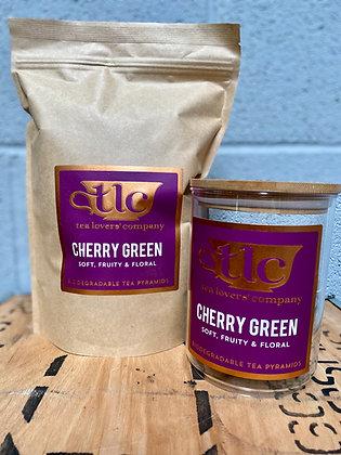 100 Cherry Green Tea Pyramids