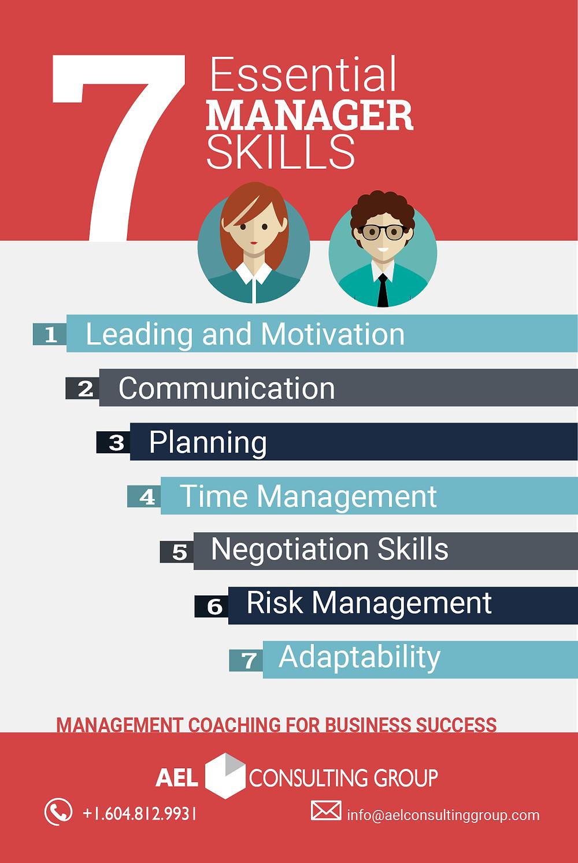 7 Essentiasl Manager Skills