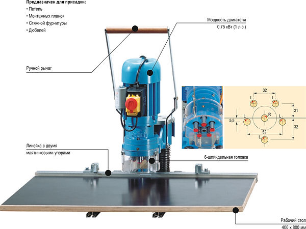 станок для сверления и запресовка bluemax mini