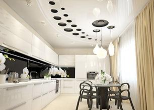 потолок с перфорацией на кухне