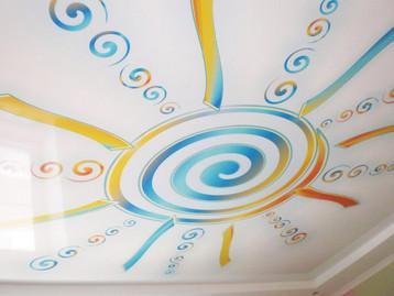 Фотопечать на потолке в детской