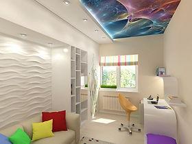 потолок в детской с фотопечатью