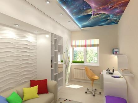 потолок в детской с подсветкой