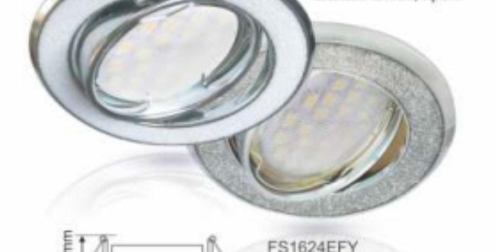 Литой поворотный светильник MR16 DL39S Круг под стеклом, металл