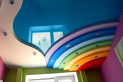 Цветные натяжные потолки цена с установкой