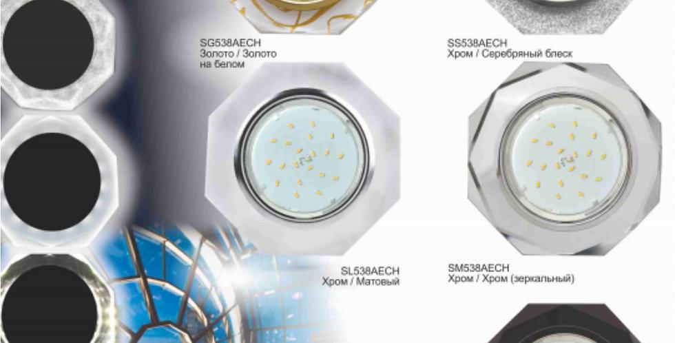Ecola GX53 LD5312 Светильник с подсветкой 8-угольник с прямыми гранями