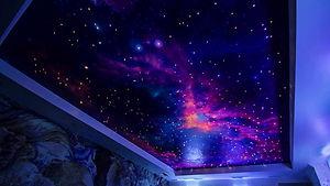 потолок звездное небо в зале