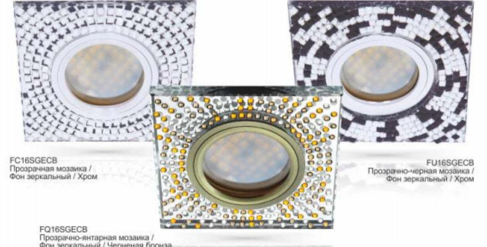 Светильник MR16 DL1658 Квадрат с мозаикой, стекло