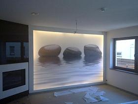 Натяжные стены с подсветкой