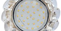 КОМПЛЕКТ Ecola светильник с большими хрусталиками встр. с лампой