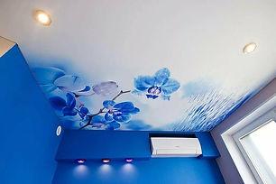 Матовый потолок в детской с фотопечатью