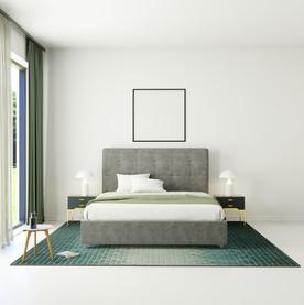 потолок в спальне с французским карнизом