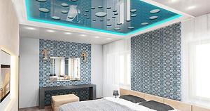 Перфорация потолка в спальне