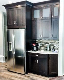 Espresso kitchen with coffee bar area.