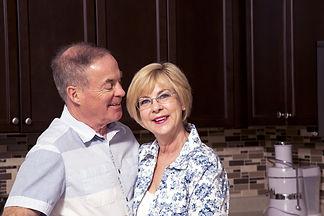 couple liking their kitchen