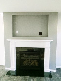 fireplace with tv niche
