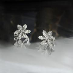 鑽石  鑽石花耳環