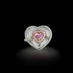 鑽石  GIA証 1.00克拉心型粉鑽戒