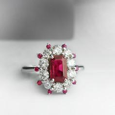 紅寶石  紅寶石鑽戒