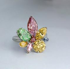 鑽石  GIA證 繽紛花式彩鑽戒