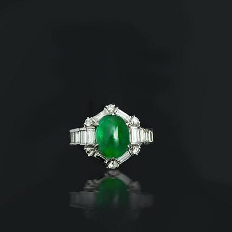 3.82克拉祖母綠鑽戒