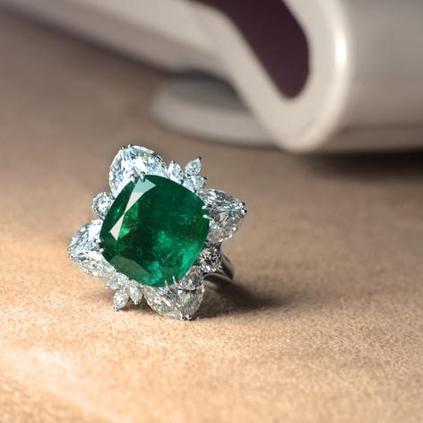 祖母綠  10.60克拉 祖母綠鑽戒