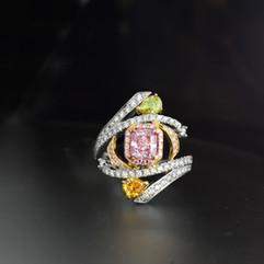 鑽石  GIA證 1.03克拉粉紅鑽戒