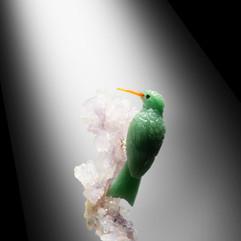 東菱石尖嘴鳥雕件