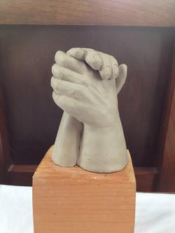 abrazo de manos