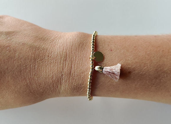 Armbandje - goud/roze