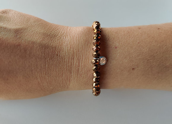 Armbandje - bruin/brons