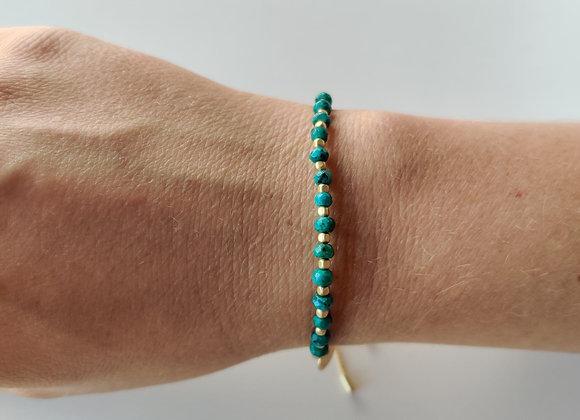 Armbandje - groen/goud