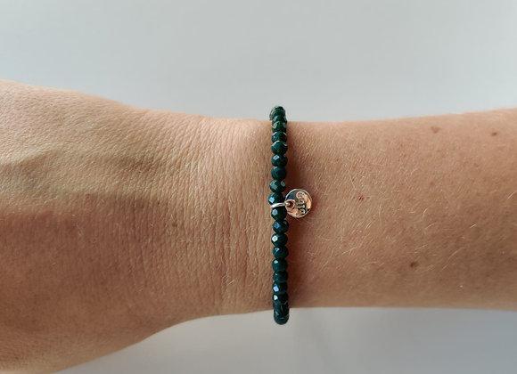 Armbandje smal - donker groen