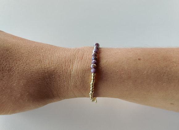 Armbandje -goud/paars