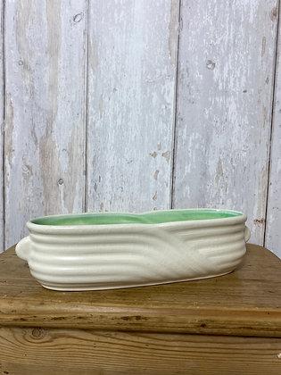 Sylvac Cream & Green Posy Vase