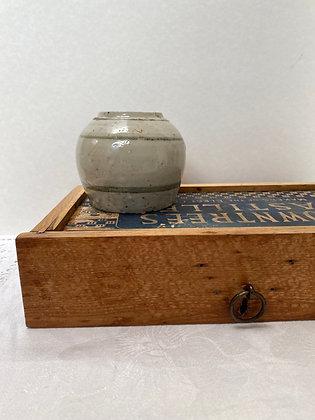 Rustic Stoneware Ginger Jar