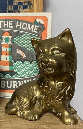 Vintage Brass Westie Dog