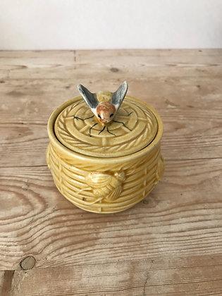 Vintage Bee Honey Pot