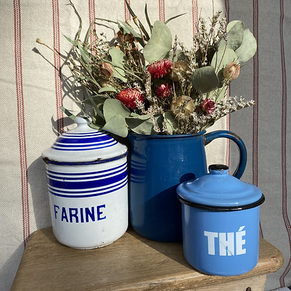 French Vintage Farine Canister
