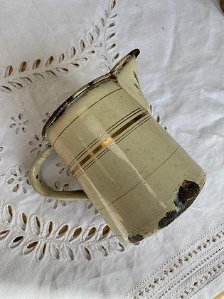 French Vintage Enamel Jug